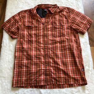 The north Face button shirt size medium